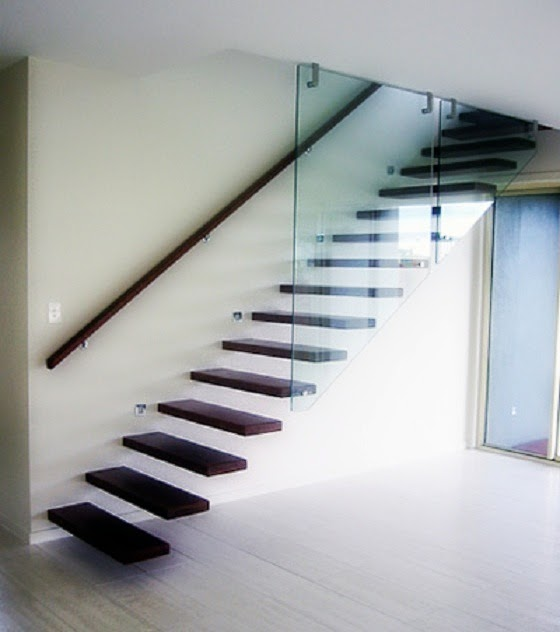 Suspended Style 32 Floating Staircase Ideas For The: Different Types Of Staircases