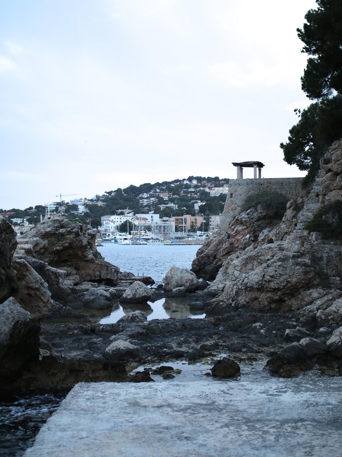 beautiful rock formation in Palma spain