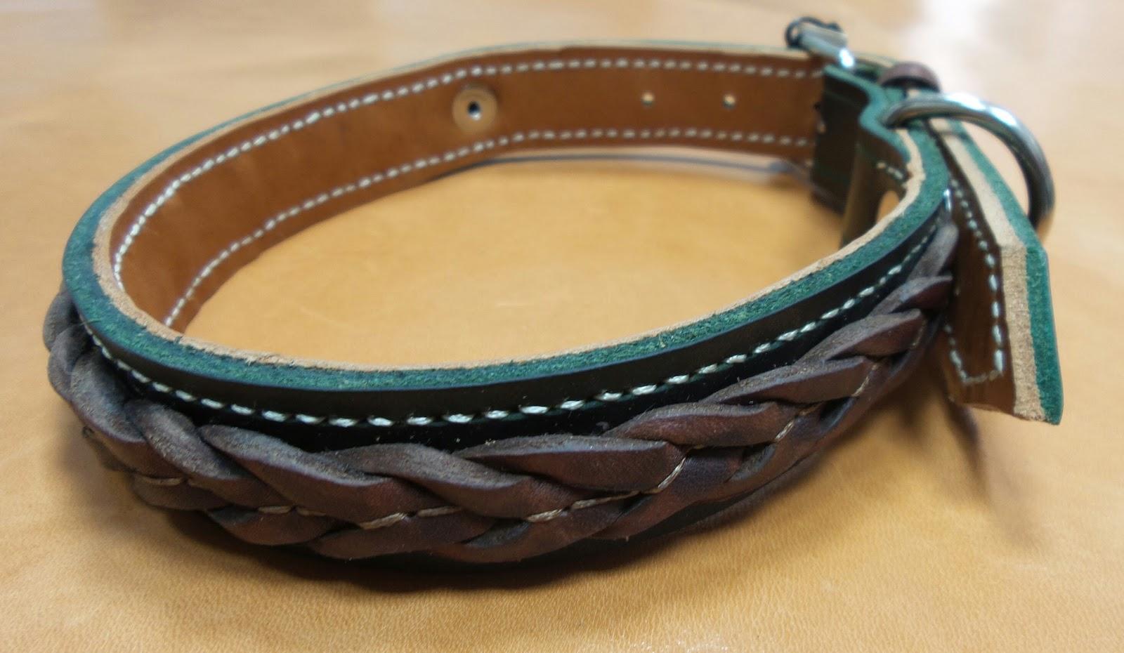 Collares para perros de cuero trenzado artesan a en cuero for Collares para perros