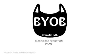 cover page of presentation to Town Council on reducing plastic bags for retail