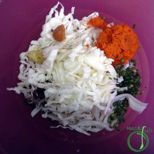 Morsels of Life - Korean Sauerkraut Step 2 - Combine all materials and mix together.