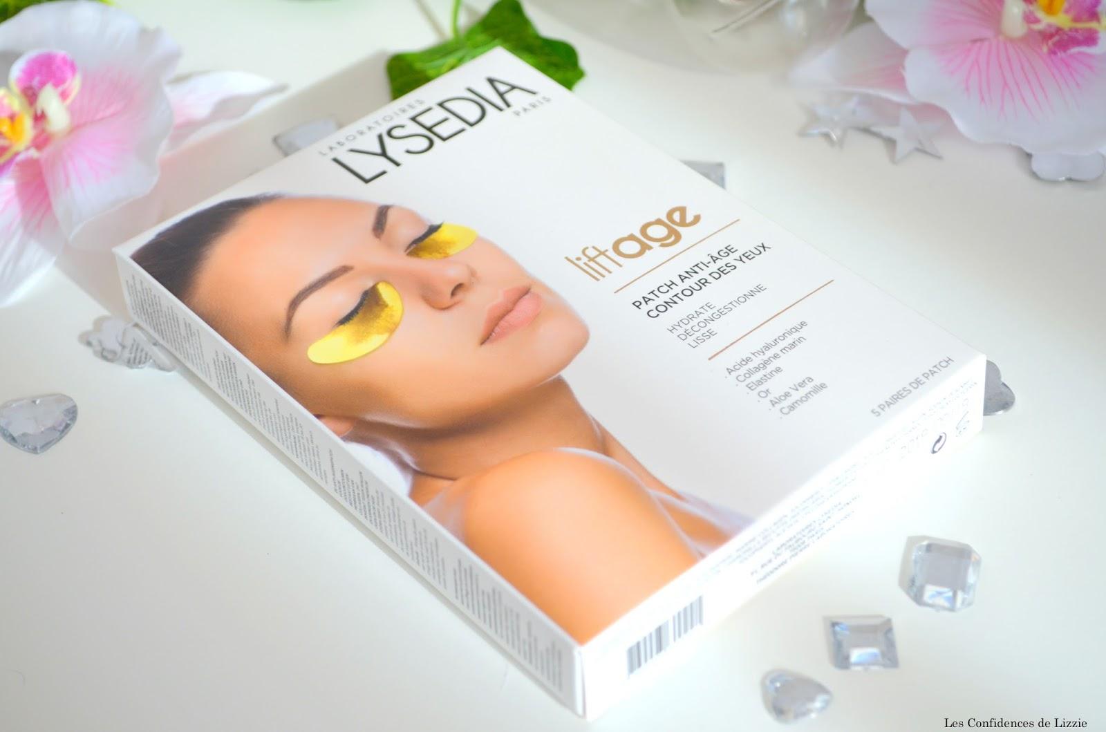 Lysedia - patchs pour les yeux - cernes - poches - lutter contre les poches - lisser le regard