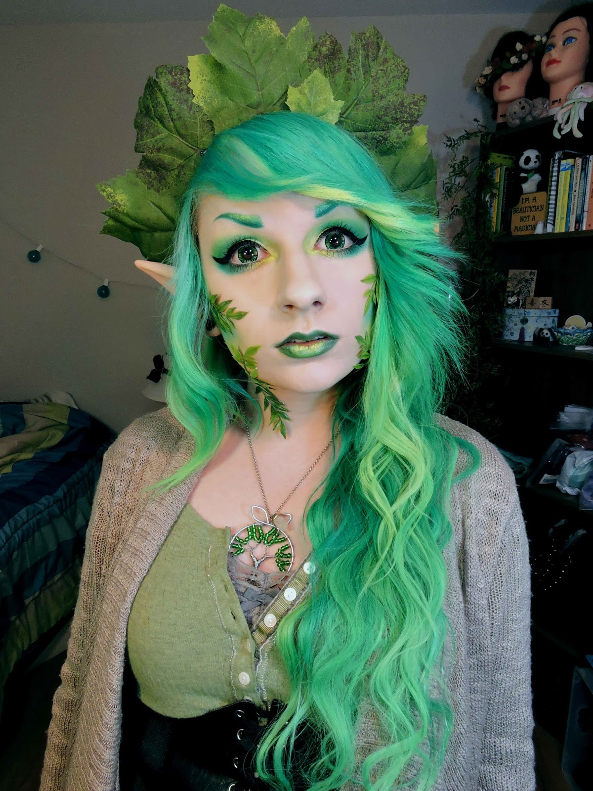 Forest Elf Cosplay Makeup Tutorial Using I Fairy Cara Green Lenses