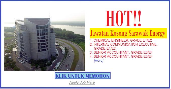 Jawatan Kosong Sarawak Energy apply job here