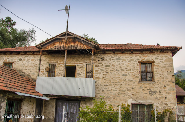 Traditional architecture - Ljubojno village, Macednonia