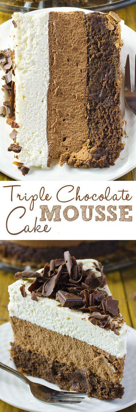 Triple Chocolate Mouse Cake
