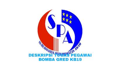 Deskripsi Tugas, Gaji dan Kelayakan Pegawai Bomba Gred KB19