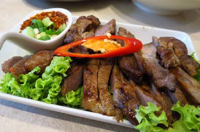 Kra Pow Thai Restaurant, khao moo yang