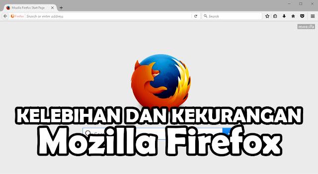 Kelebihan dan Kekurangan Browser Mozilla Firefox