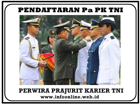 Pendaftaran Perwira Prajurit Karier TNI 2020-2021