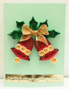 Flower quilling paper  christmas greeting card designs - quillingpaperdesigns