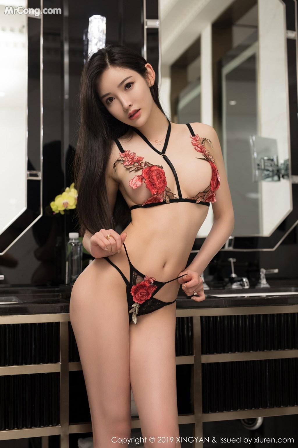 Image XingYan-Vol.121-He-Chen-Xi-MrCong.com-048 in post XingYan Vol.121: He Chen Xi (何晨曦) (49 ảnh)