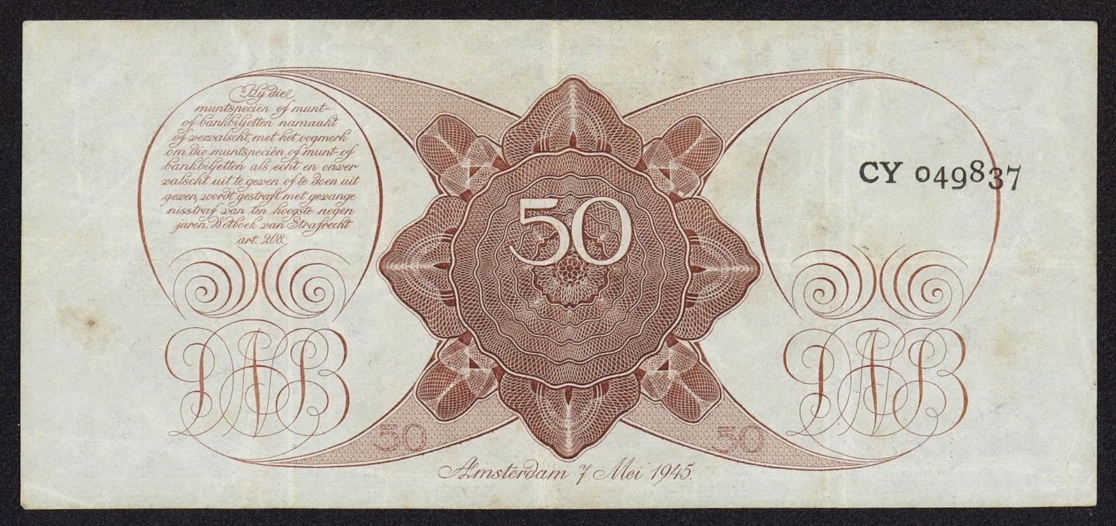Netherlands 50 Gulden
