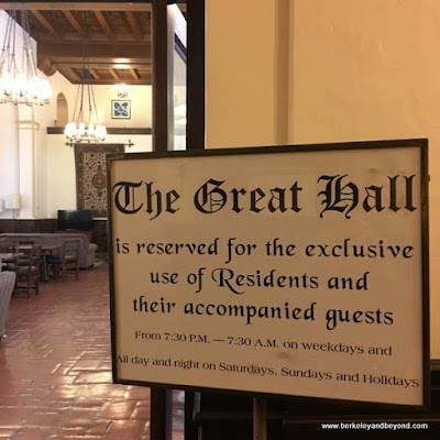 The Great Hall at International House on U.C. campus in Berkeley, Calfornia