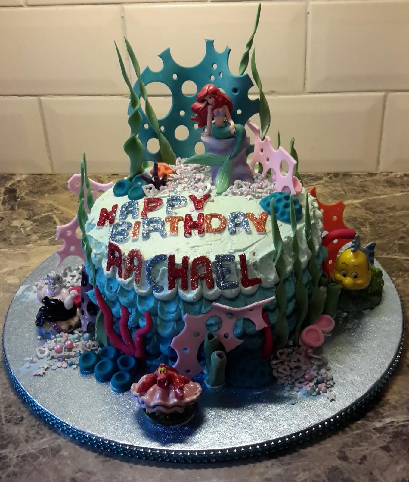 A Little Bit Of Heaven Disney The Little Mermaid Birthday Cake