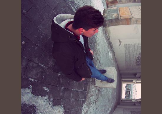 Imagen perspectiva - Ponto de vista - De pé no bloco
