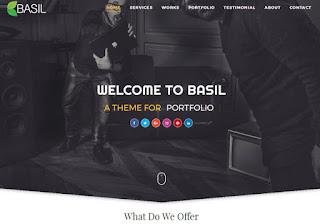 Portifolio Brasil blogger template perfeito para seu negócio