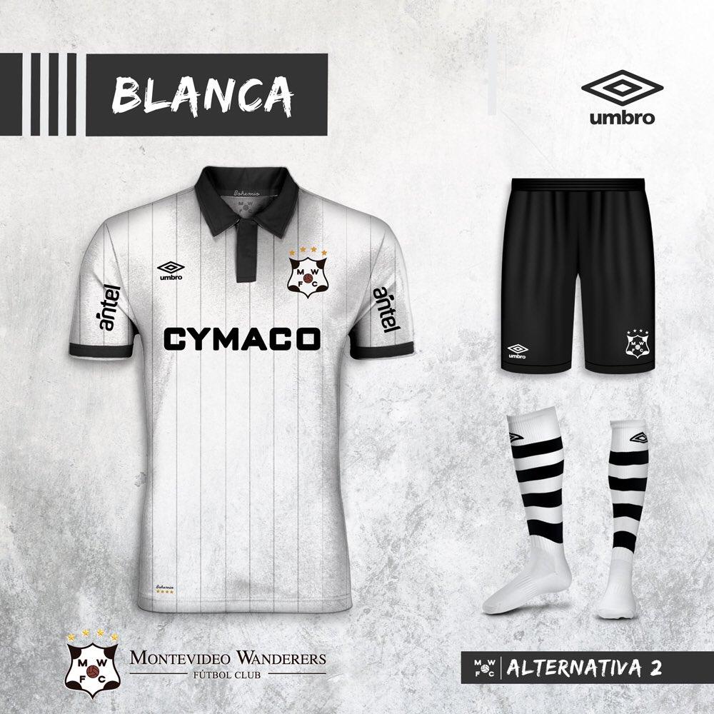 Umbro ha presentato le nuove maglie di Montevideo Wanderers nel 2018  a566702689cd6