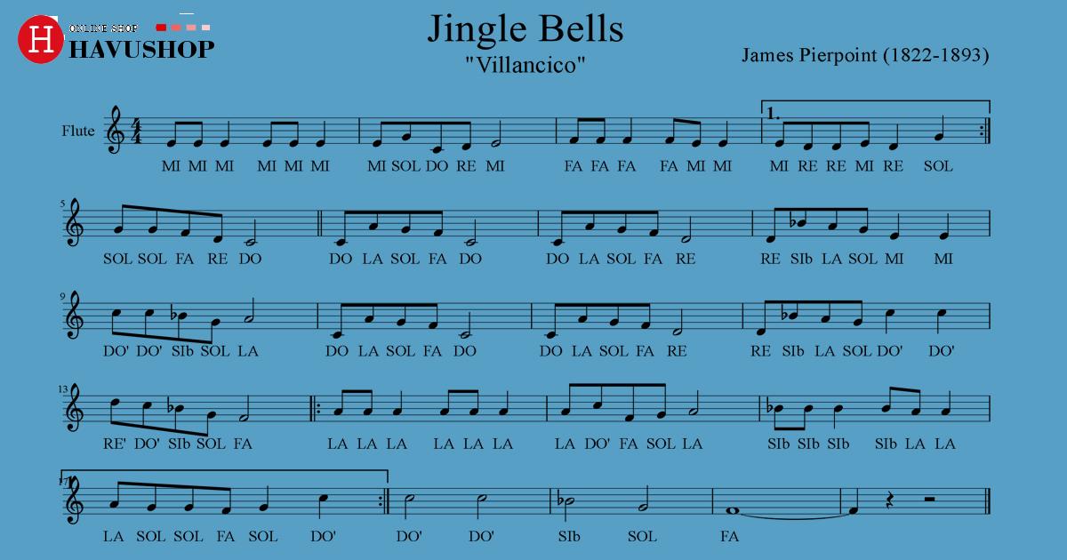 nốt nhạc bài hát jingle bells