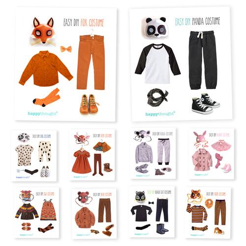 varias ideas para disfraz de animales