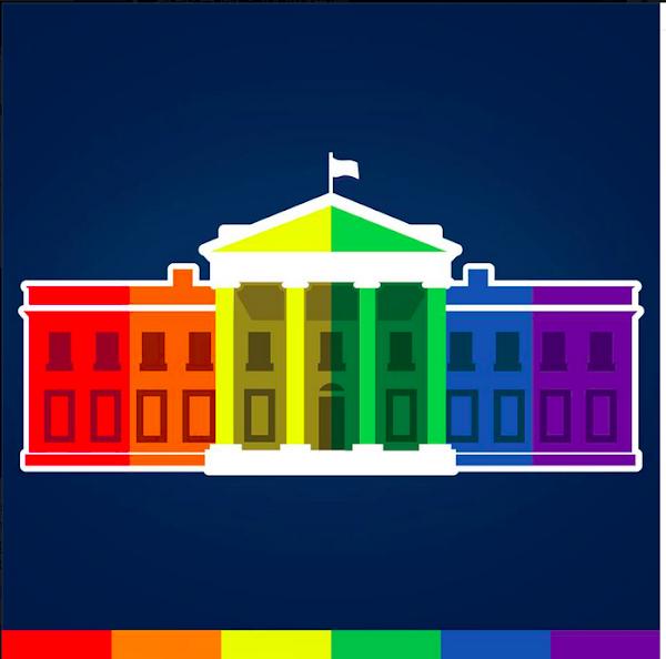 白宮臉書換上六色圖片