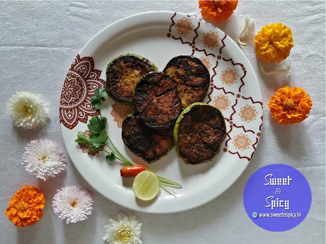 Baigan Bhaja or Brinjal Fry