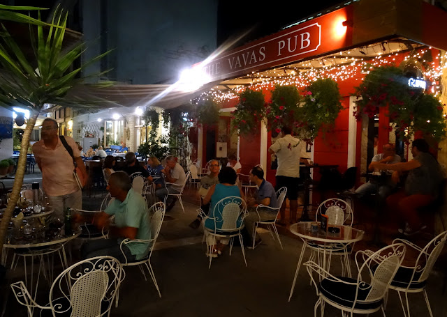 Cafe and night life scene in Preveza centrum, Greece