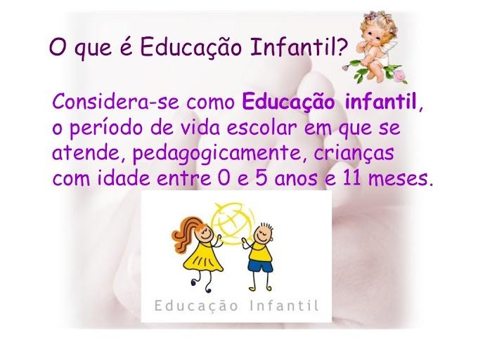 UM POUQUINHO SOBRE EDUCAÇÃO INFANTIL.