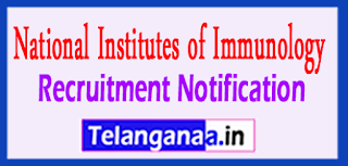 NII National Institute Of Immunology Recruitment Notification 2017