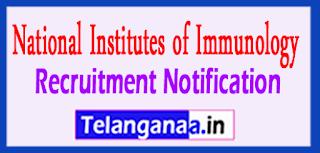 NII National Institute Of Immunology Recruitment Notification 2017 Last Date 16-05-2017