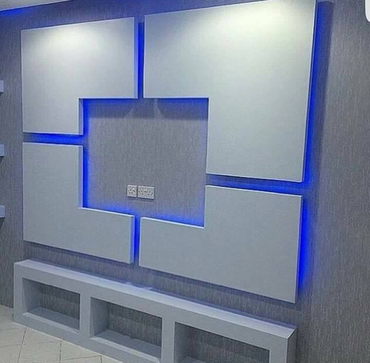 handmade gypsum board tv wall units decor units. Black Bedroom Furniture Sets. Home Design Ideas