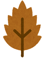 葉っぱのマーク(ギザギザの落ち葉)