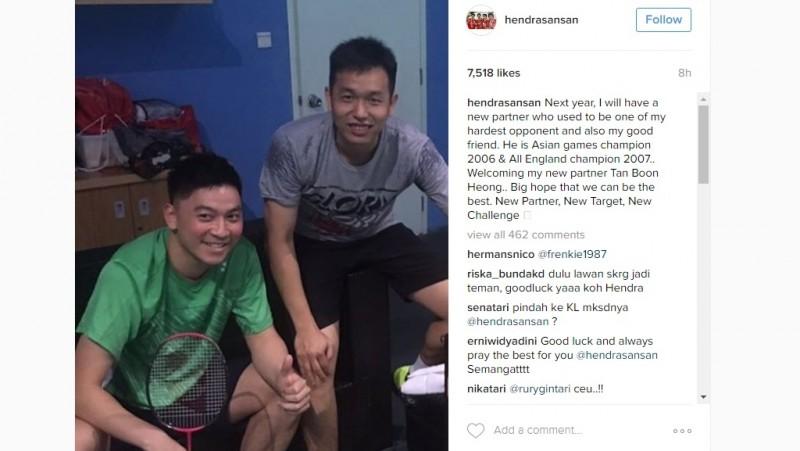 Hendra Setiawan dan Tan Boon Heong