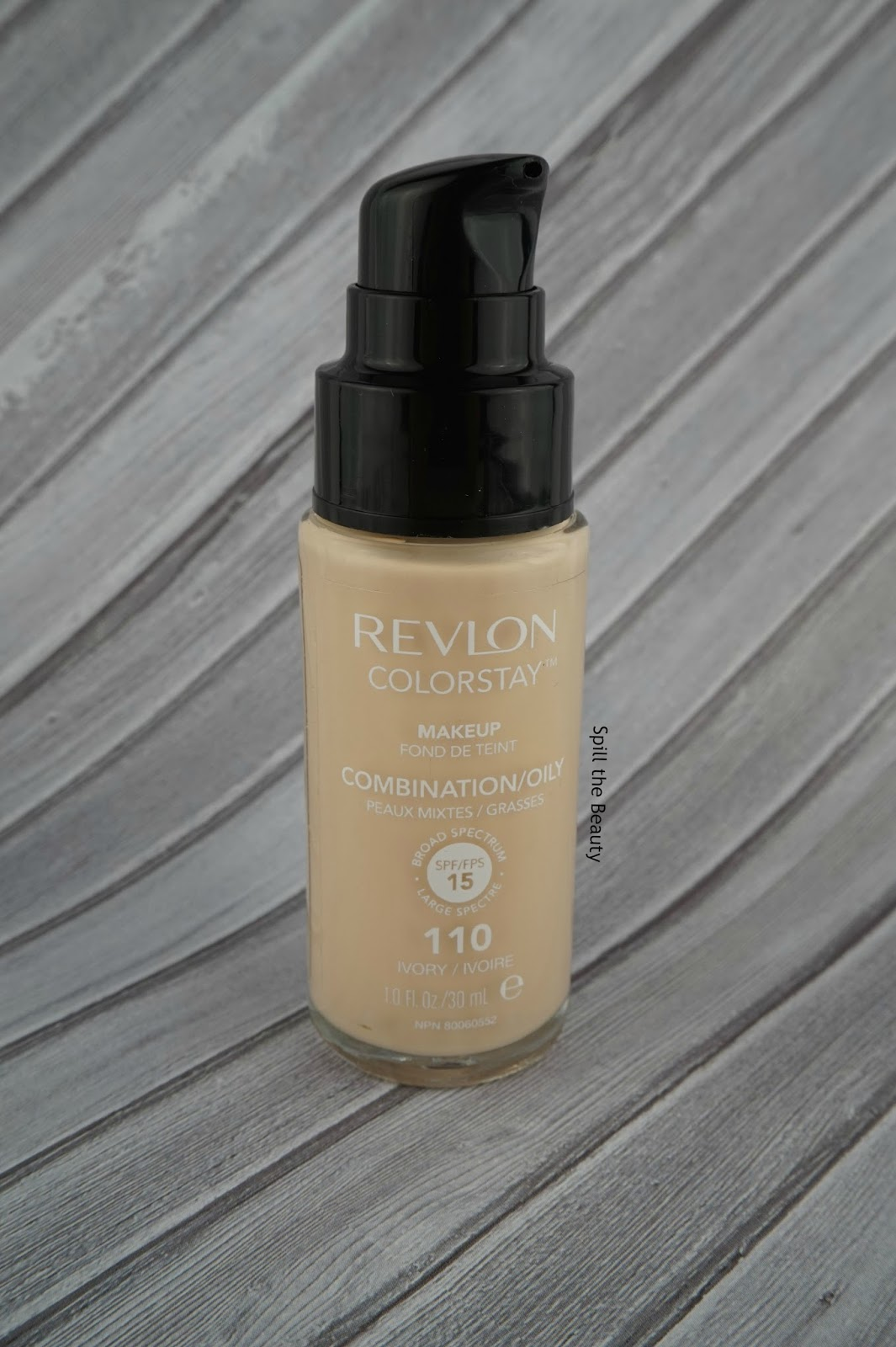 revlon colorstay combination oily foundation review swatches comparison 110 ivory before and after