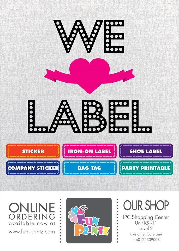 Personalized Labels For Kids Malaysia ~ Parenting Times