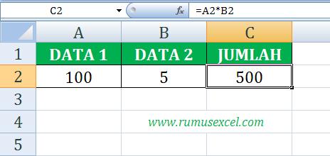 Rumus Perkalian di Excel