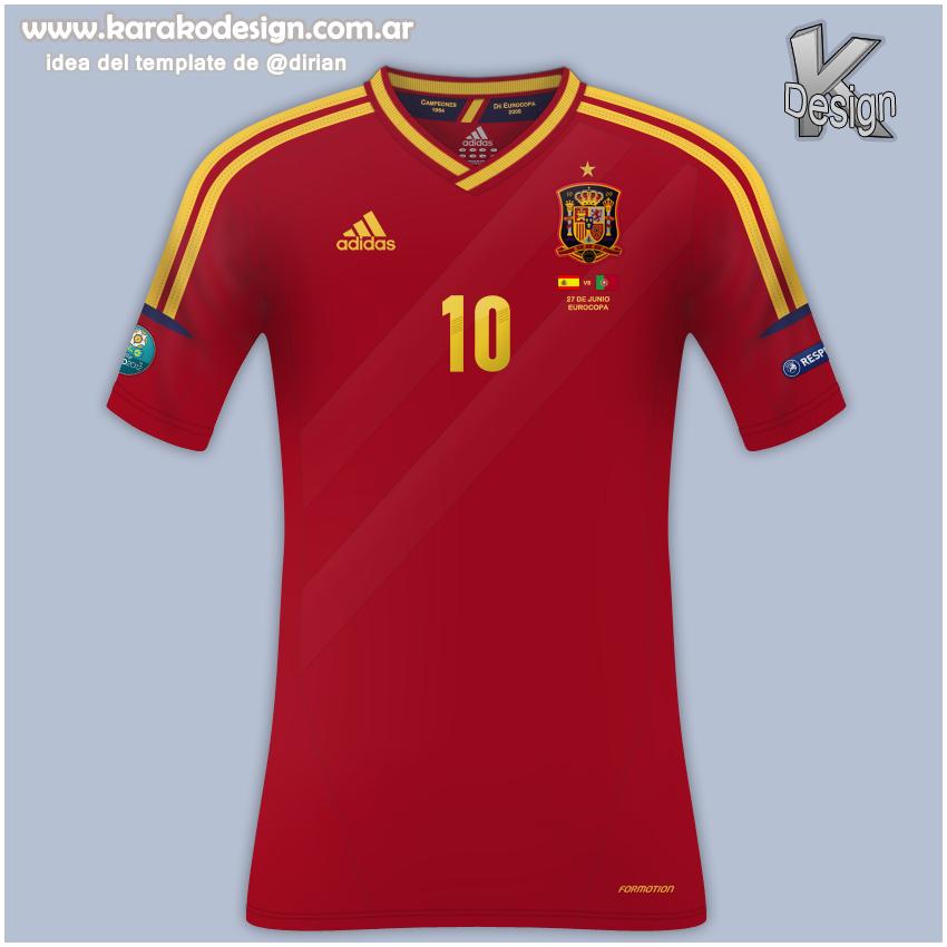 Karako Design ·-: Camiseta de la Selección Española ...