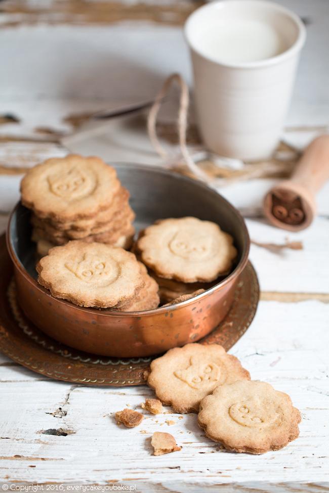 ciastka cynamonowe z kocim stempelkiem i cynamonem cejlońskim
