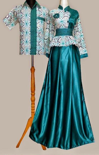 10 model gamis batik kombinasi satin terbaru 2017 Model baju batik gamis blazer terbaru