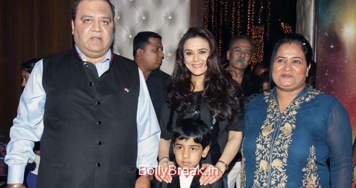 Kishor Dhingra, Preity Zinta, Aakash Dhingra, Hot HD Images of Priety Zinta at Aakash Dingra's 7th Birthday Bash