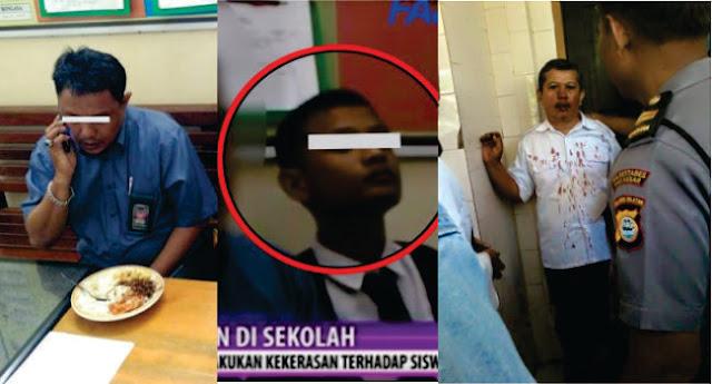 Adnan, Wali Murid Penganiaya Guru Ngaku Sebagai Wartawan Media Berita Anti Korupsi