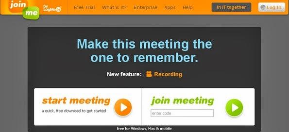 join.me screen sharing lightweight app
