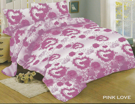 Sprei Red Rose Pink Love
