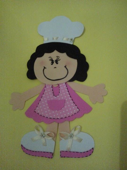 Compose Artesanato Arte Em Eva Cozinheiras De Eva