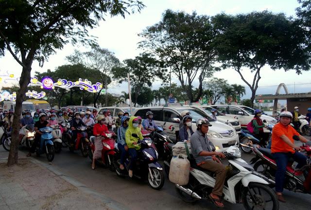 Saigon motorbike traffic