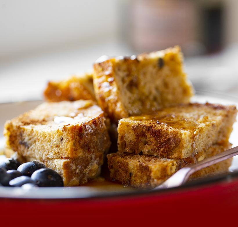 Holiday Nog French Toast Casserole