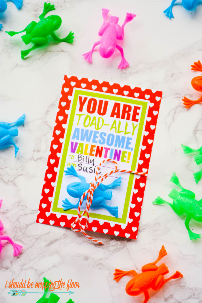 Free Printable Frog Valentines | Instant downloads for a TOAD-ALLY AWESOME Valentine's Day!
