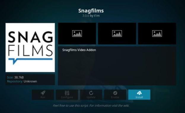 SnagFilm - Addon Movie Kodi Terbaik