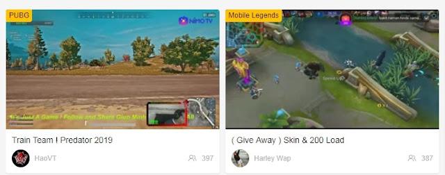 games streamers live on nimo tv
