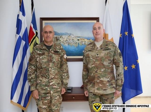 ΓΕΕΦ: Επίσκεψη Ακόλουθου Άμυνας των Η.Π.Α